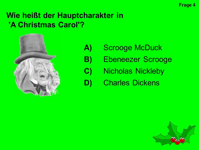 Wie heißt der Hauptcharakter in A Christmas Carol