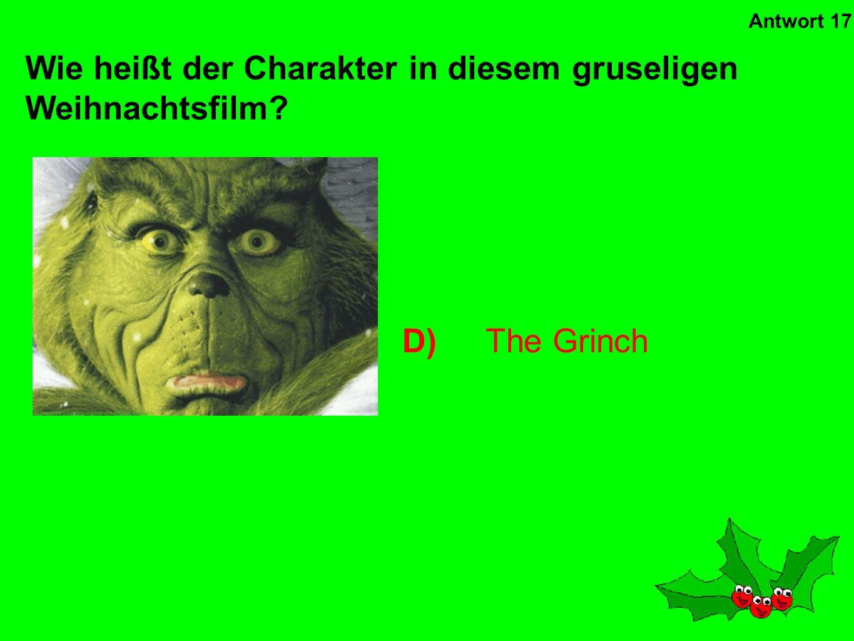 Wie heißt der Charakter in diesem gruseligen Weihnachtsfilm