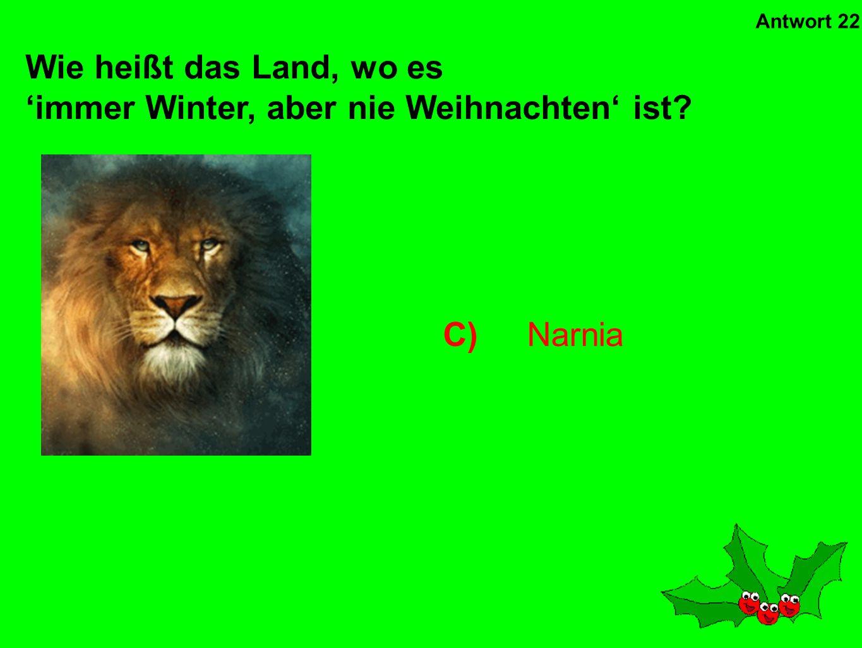 'immer Winter, aber nie Weihnachten' ist