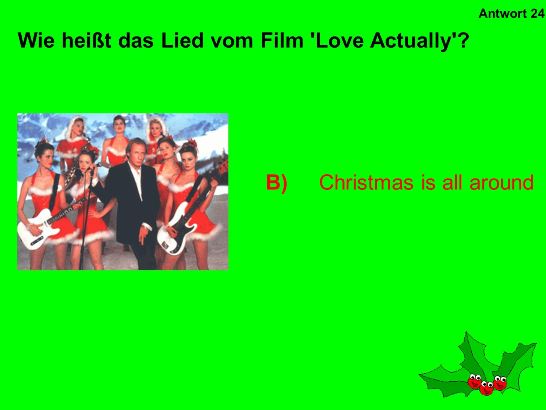 Wie heißt das Lied vom Film Love Actually
