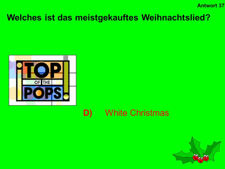 Welches ist das meistgekauftes Weihnachtslied