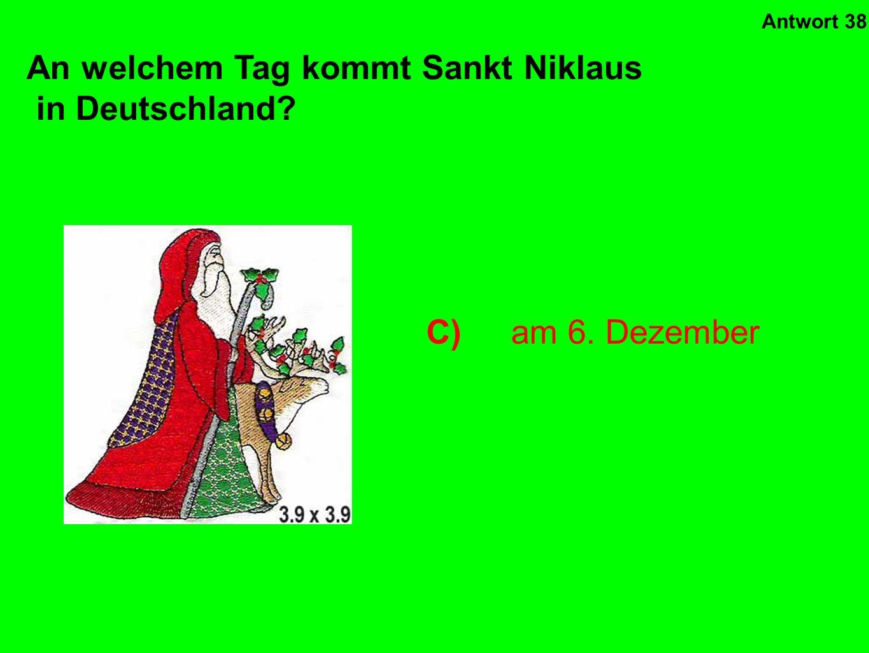 An welchem Tag kommt Sankt Niklaus in Deutschland