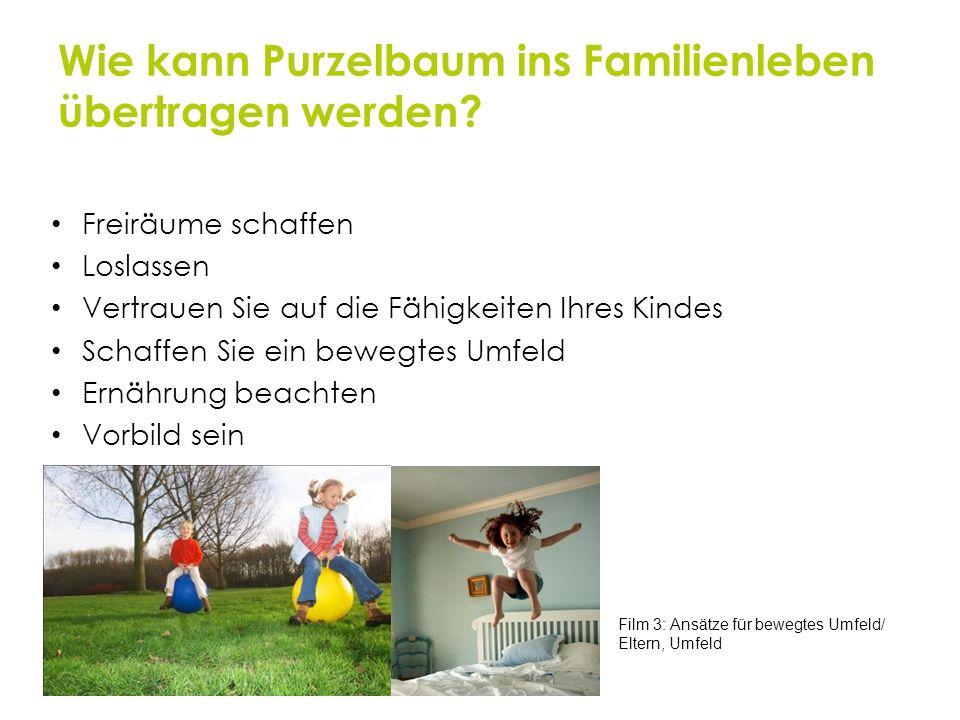 Wie kann Purzelbaum ins Familienleben übertragen werden