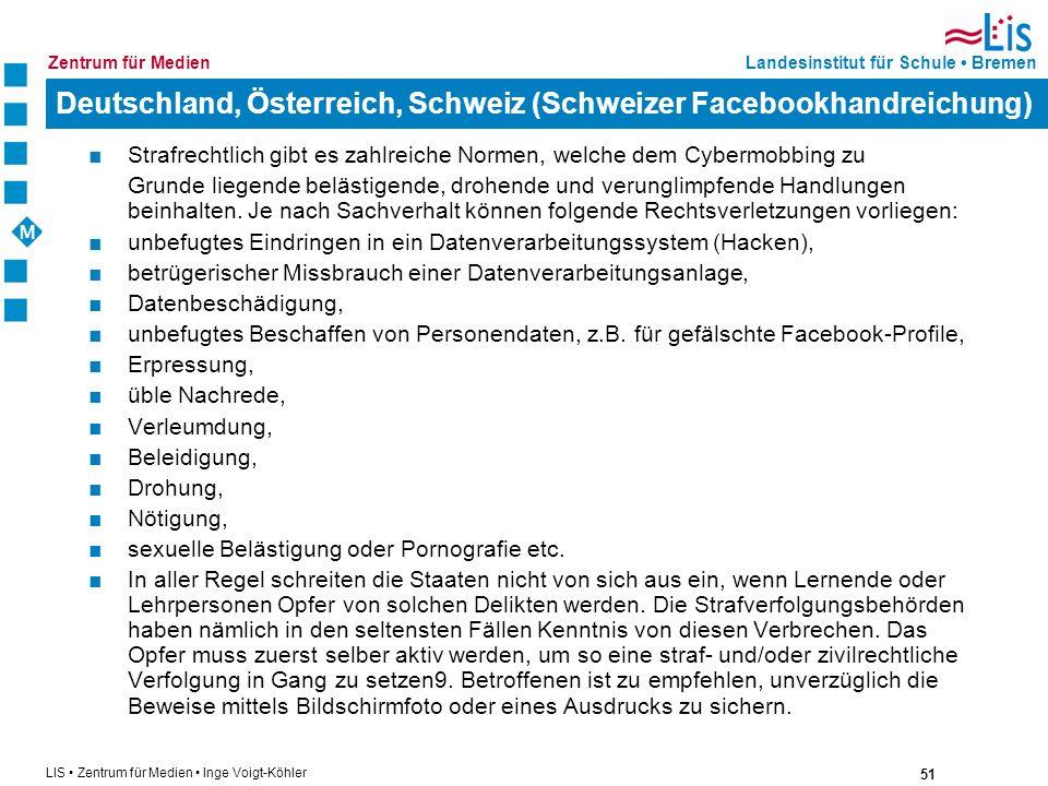 Deutschland, Österreich, Schweiz (Schweizer Facebookhandreichung)