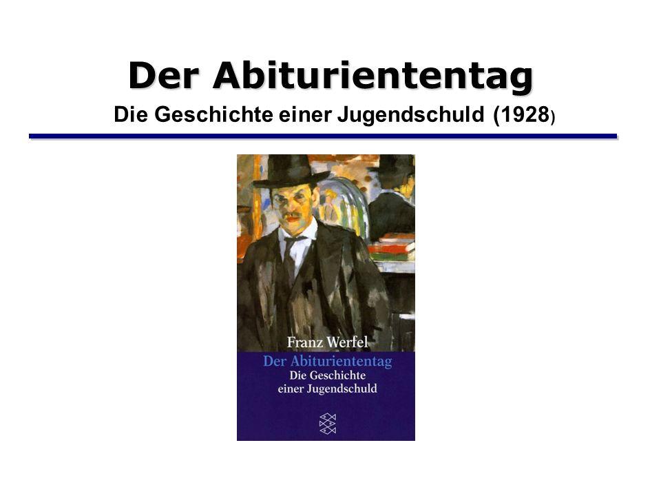 Der Abituriententag Die Geschichte einer Jugendschuld (1928)