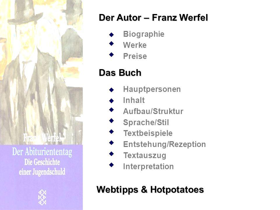Der Autor – Franz Werfel
