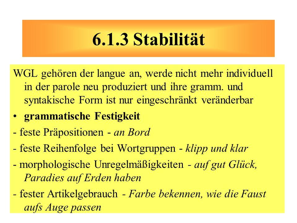 6.1.3 Stabilität