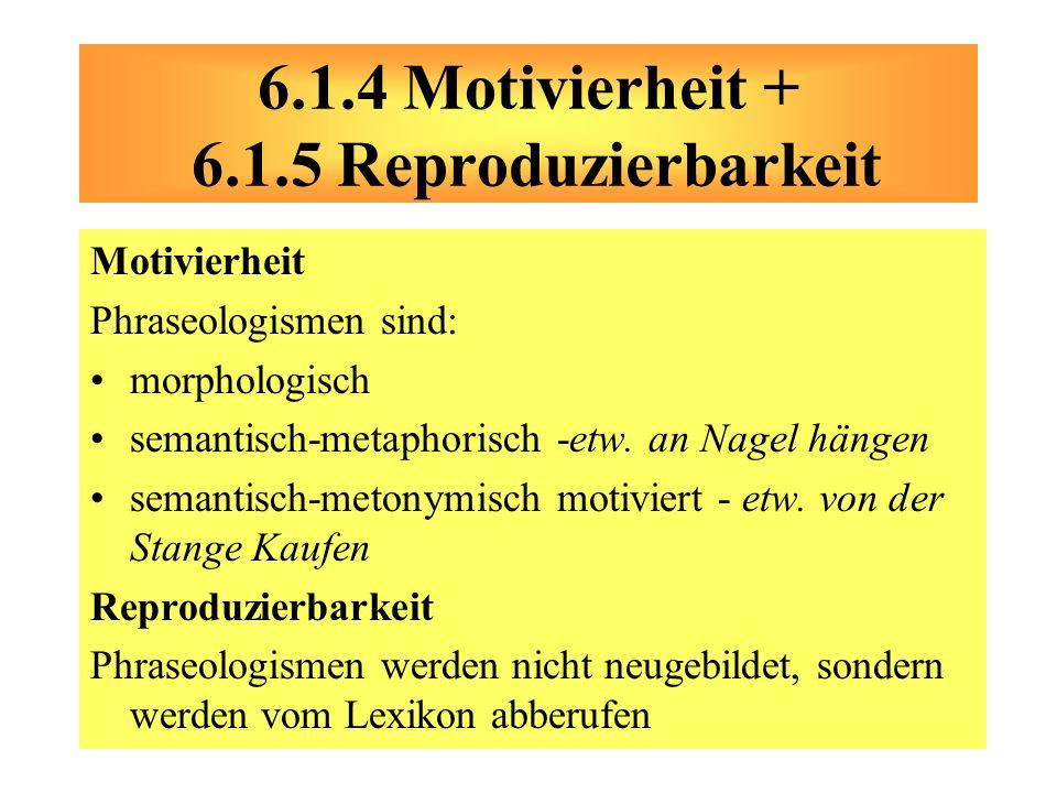 6.1.4 Motivierheit + 6.1.5 Reproduzierbarkeit