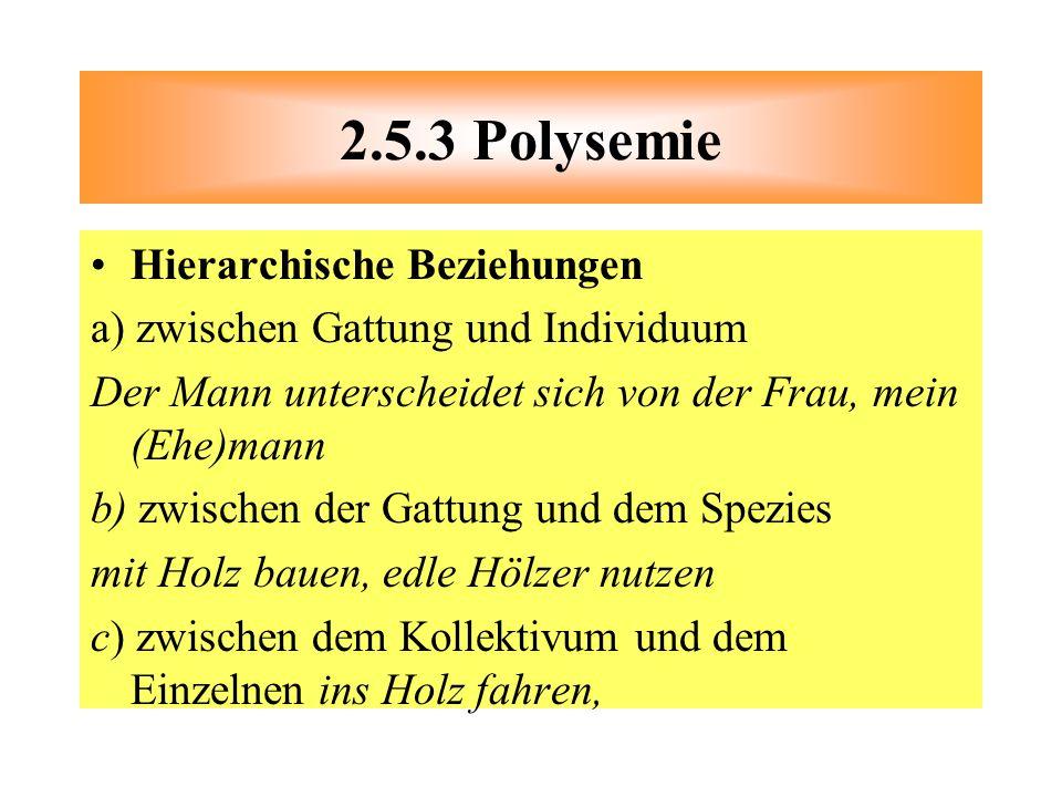 2.5.3 Polysemie Hierarchische Beziehungen