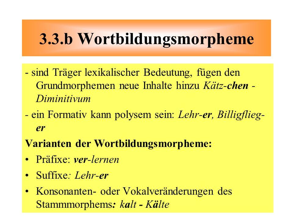 3.3.b Wortbildungsmorpheme