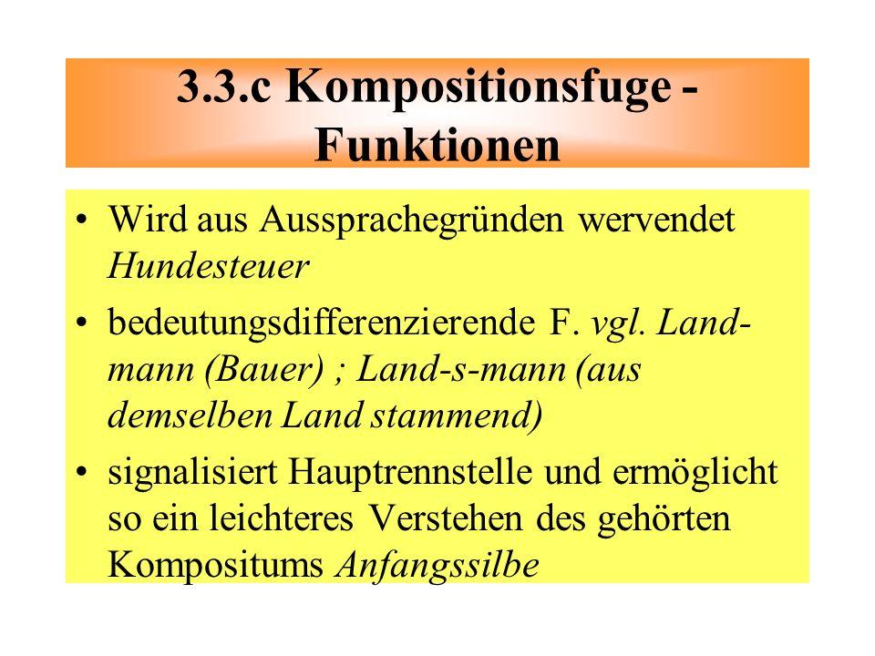 3.3.c Kompositionsfuge -Funktionen