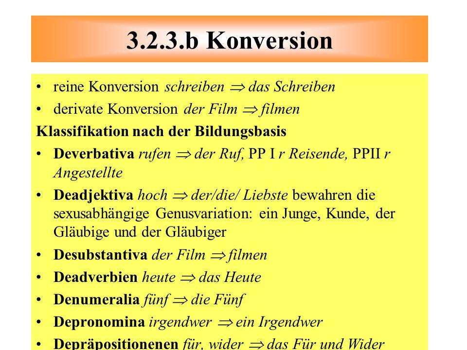 3.2.3.b Konversion reine Konversion schreiben  das Schreiben