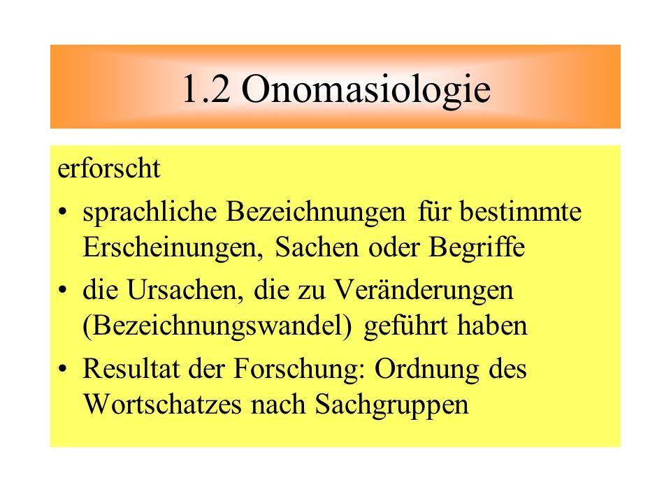 1.2 Onomasiologie erforscht