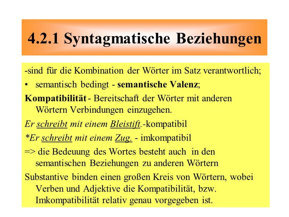 4.2.1 Syntagmatische Beziehungen
