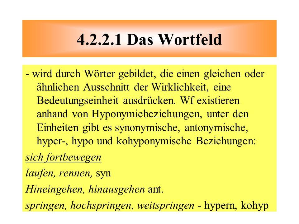 4.2.2.1 Das Wortfeld