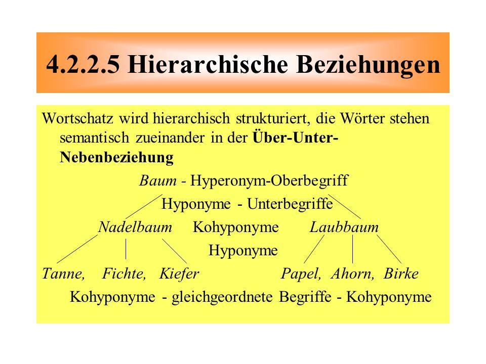4.2.2.5 Hierarchische Beziehungen