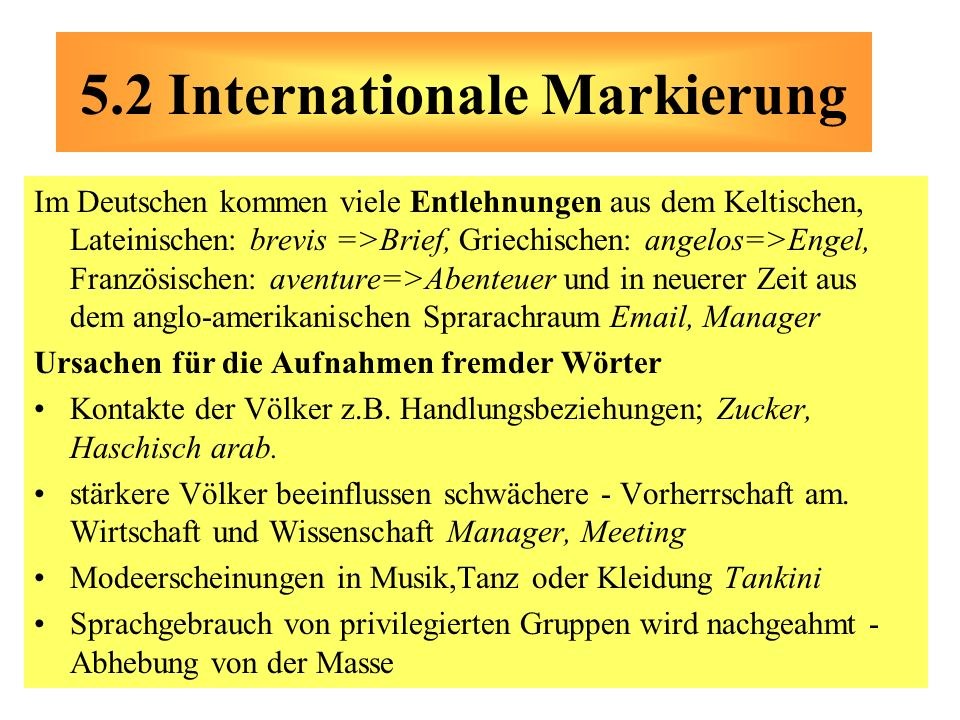 5.2 Internationale Markierung