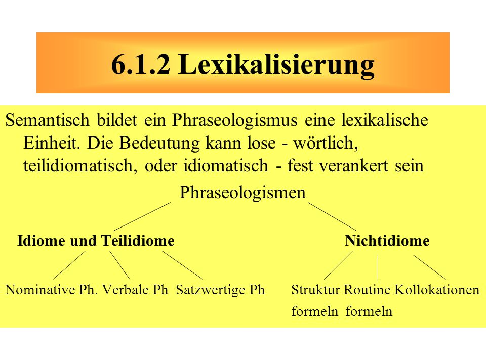 6.1.2 Lexikalisierung