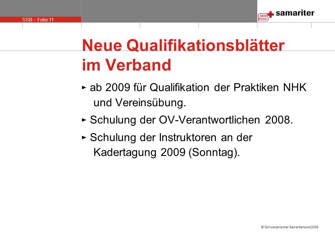 Neue Qualifikationsblätter im Verband