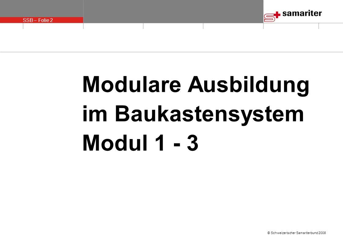 Modulare Ausbildung im Baukastensystem Modul 1 - 3