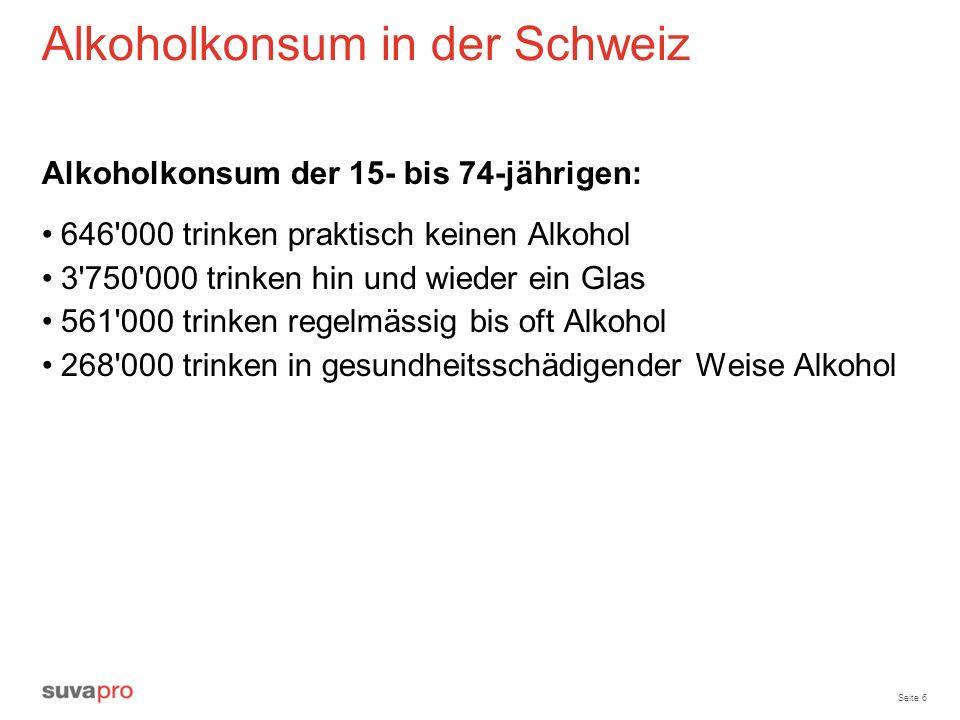 Alkoholkonsum in der Schweiz
