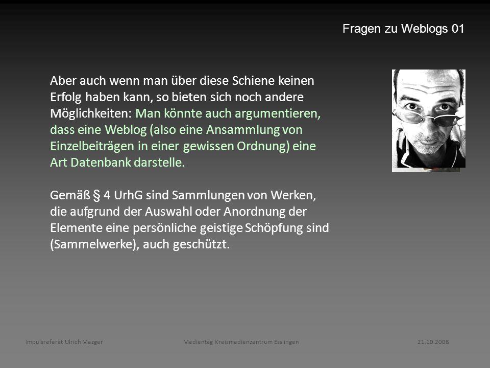 Fragen zu Weblogs 01