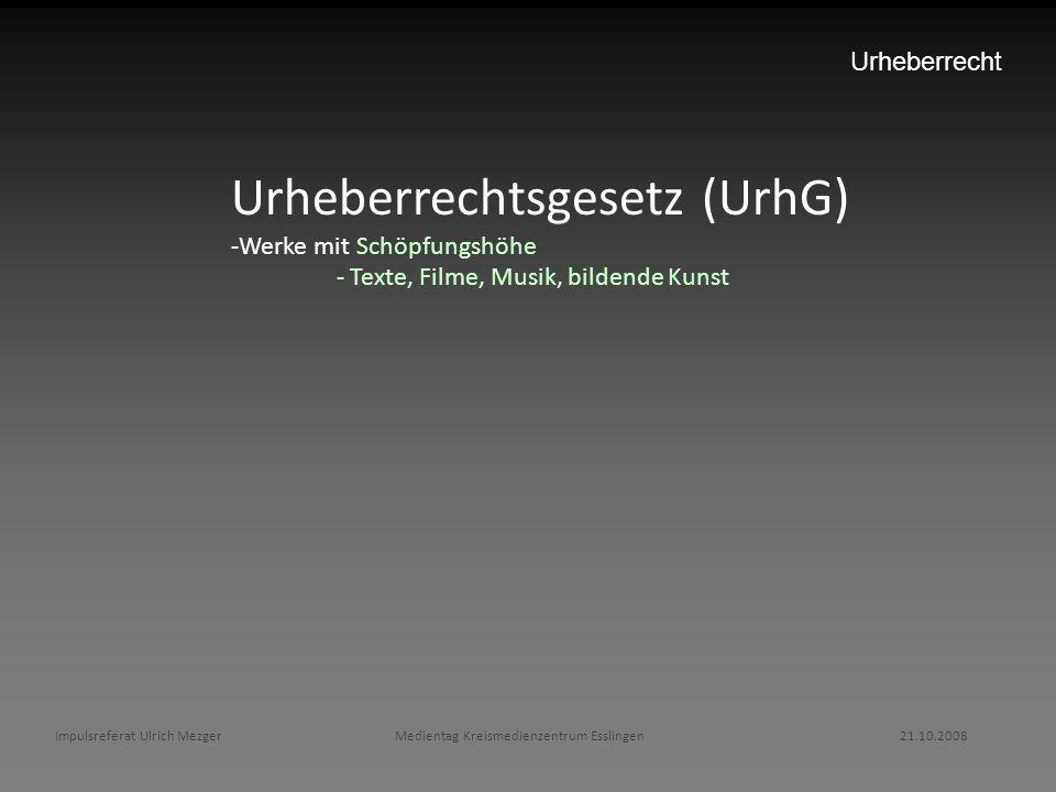 Urheberrechtsgesetz (UrhG)