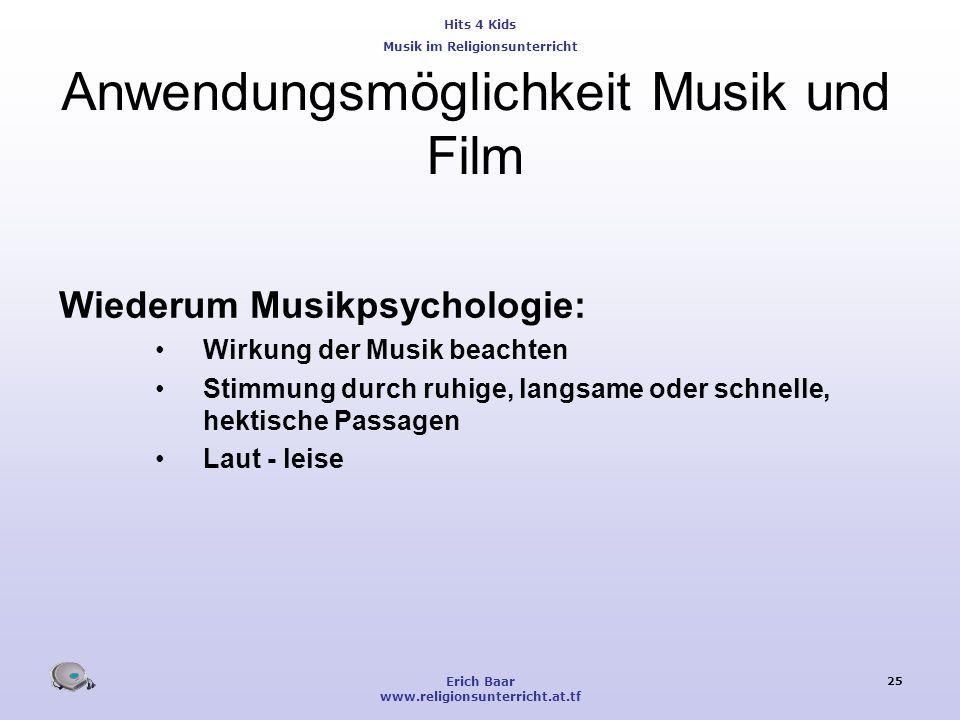 Anwendungsmöglichkeit Musik und Film