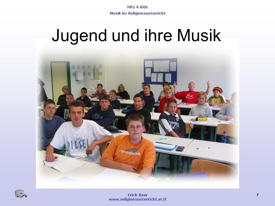 Jugend und ihre Musik Erich Baar www.religionsunterricht.at.tf