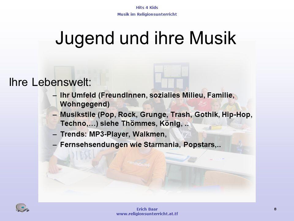 Jugend und ihre Musik Ihre Lebenswelt: