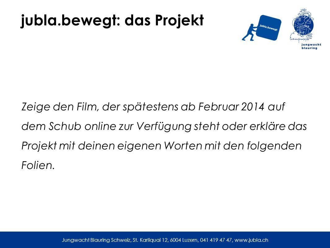 jubla.bewegt: das Projekt