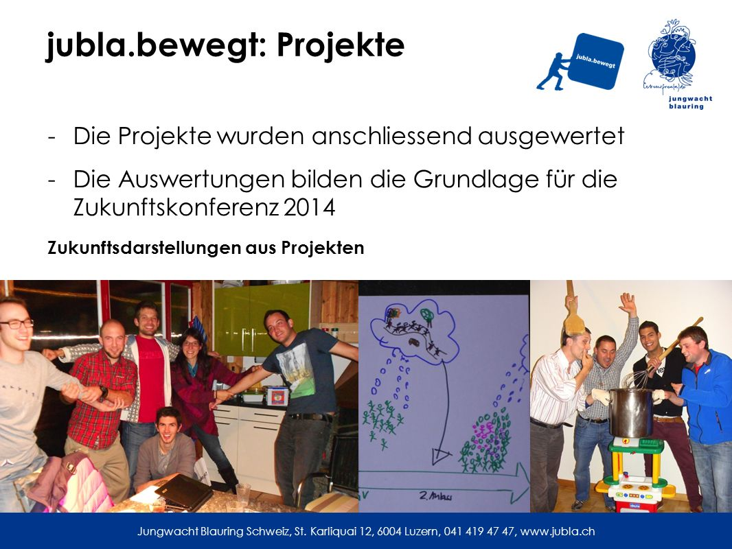 jubla.bewegt: Projekte