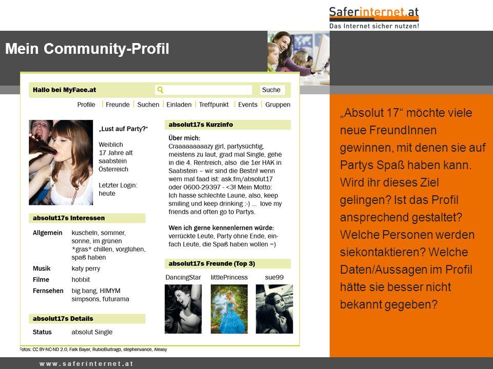 Mein Community-Profil