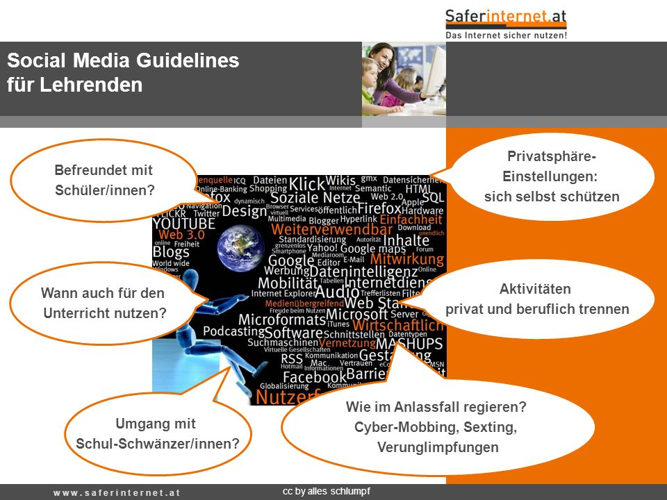 Social Media Guidelines für Lehrenden