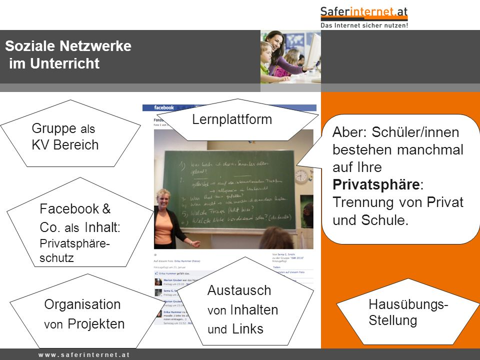 Soziale Netzwerke im Unterricht