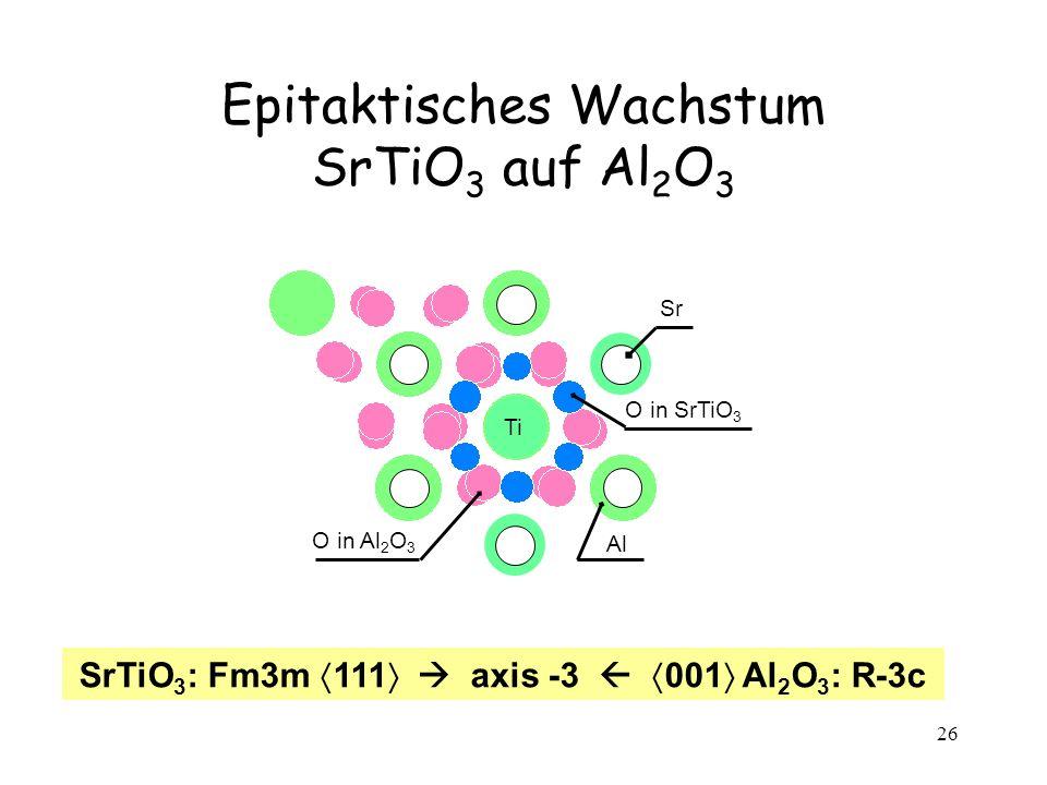 Epitaktisches Wachstum SrTiO3 auf Al2O3