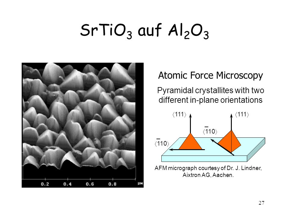 SrTiO3 auf Al2O3 Atomic Force Microscopy
