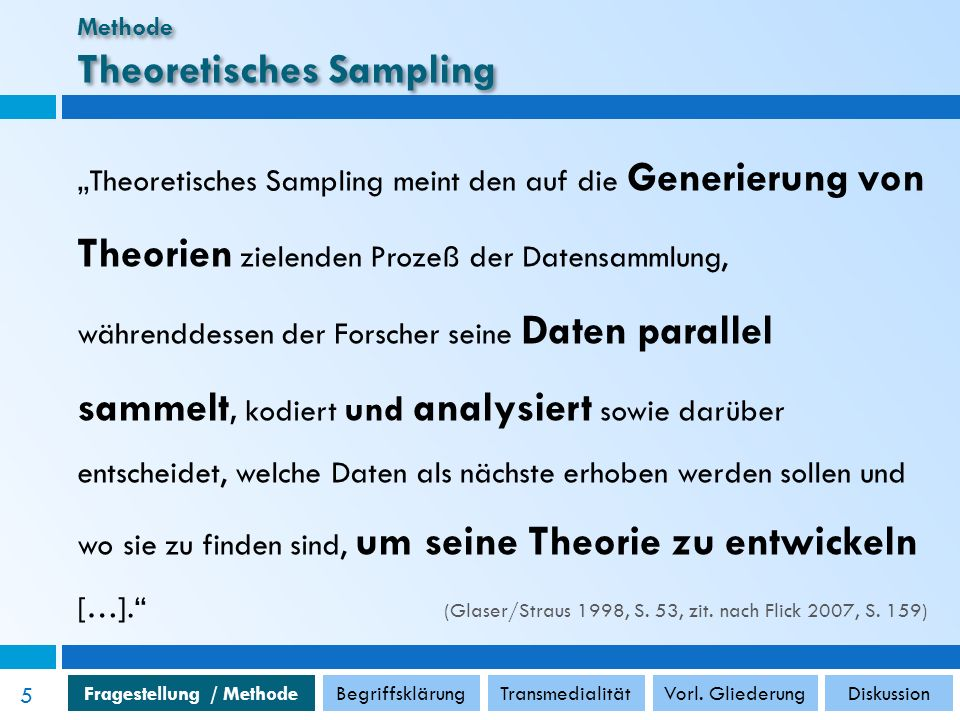 Methode Theoretisches Sampling