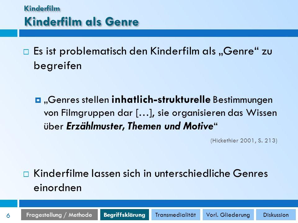 Kinderfilm Kinderfilm als Genre