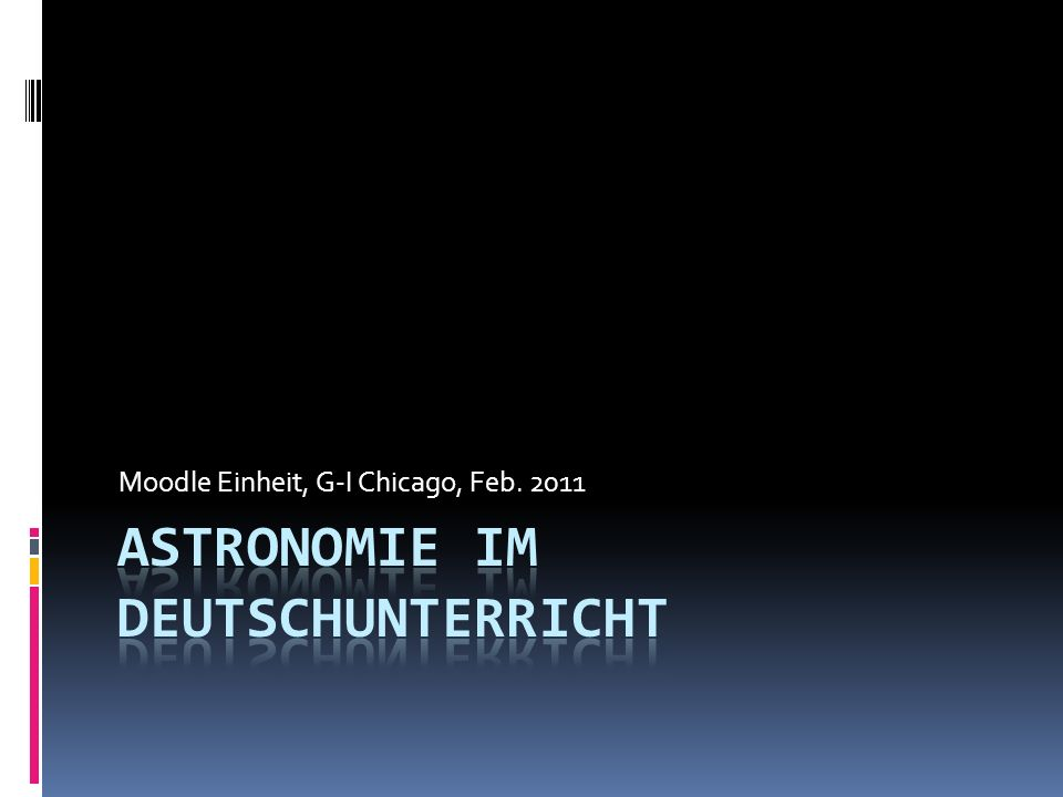Astronomie im Deutschunterricht