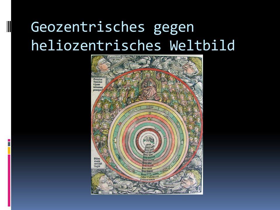 Geozentrisches gegen heliozentrisches Weltbild