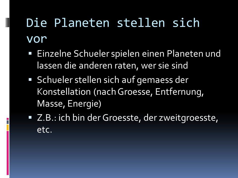 Die Planeten stellen sich vor
