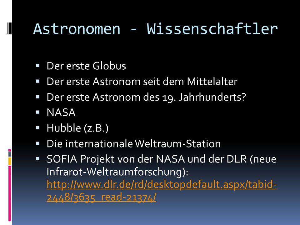 Astronomen - Wissenschaftler