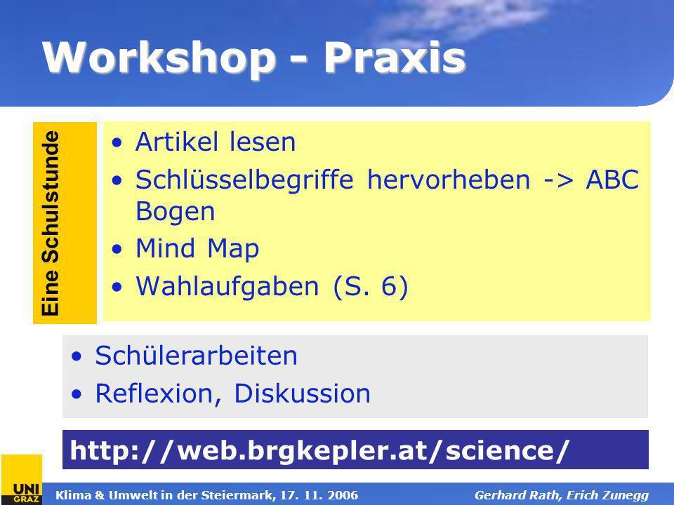 Workshop - Praxis Artikel lesen