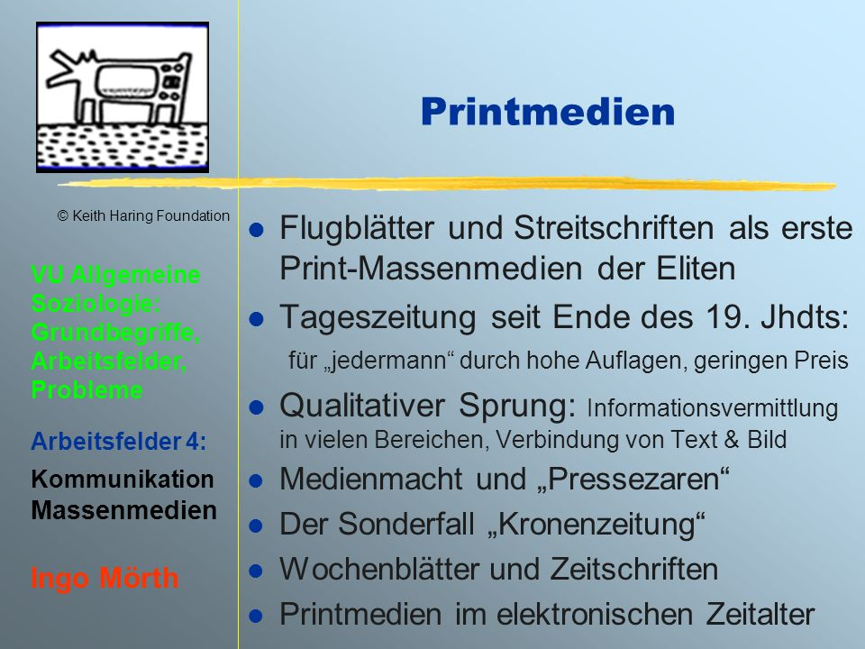 Printmedien Flugblätter und Streitschriften als erste Print-Massenmedien der Eliten.