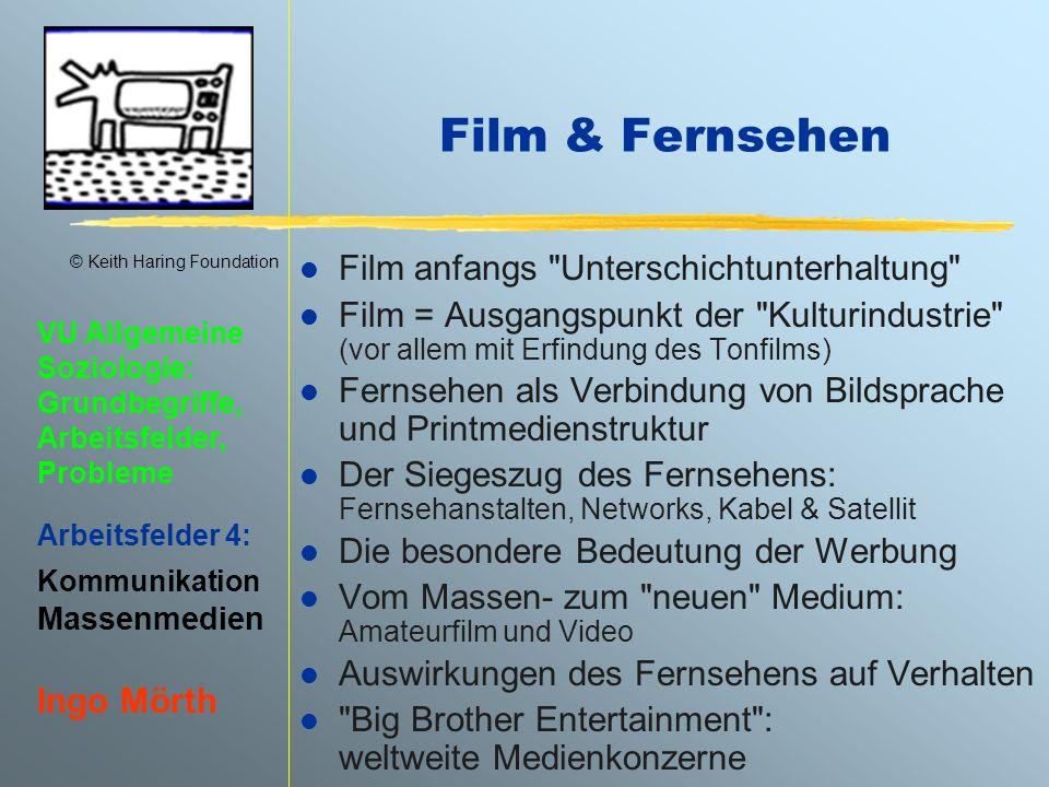 Film & Fernsehen Film anfangs Unterschichtunterhaltung