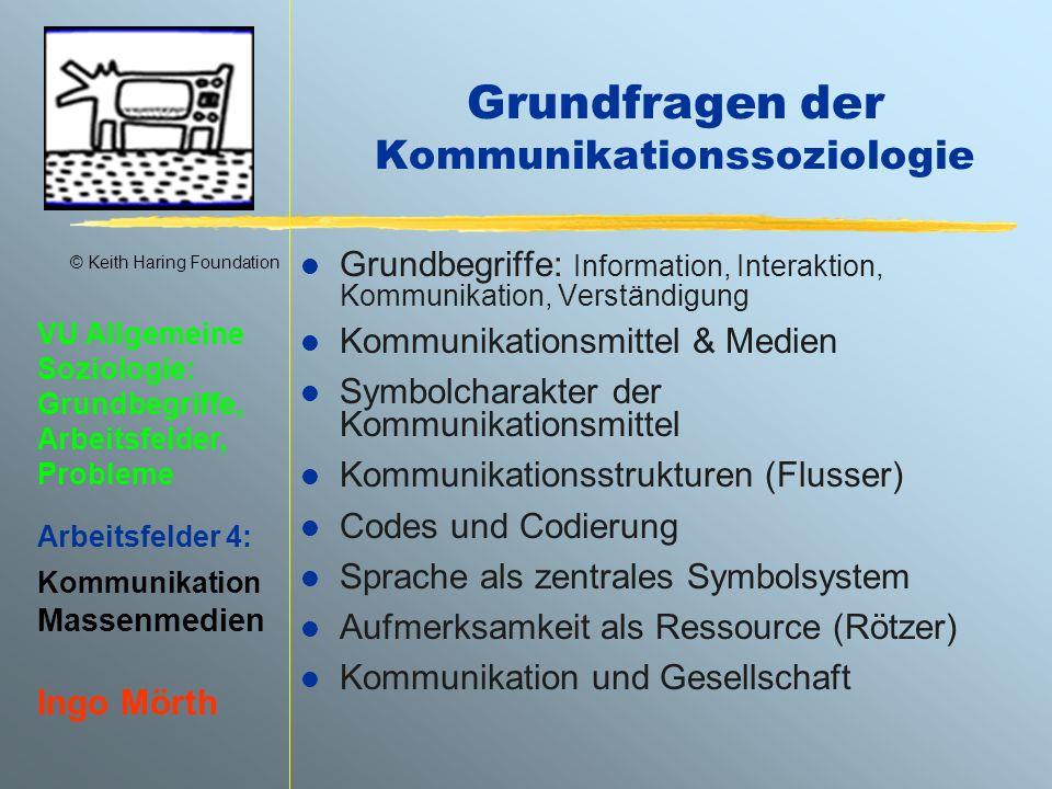 Grundfragen der Kommunikationssoziologie