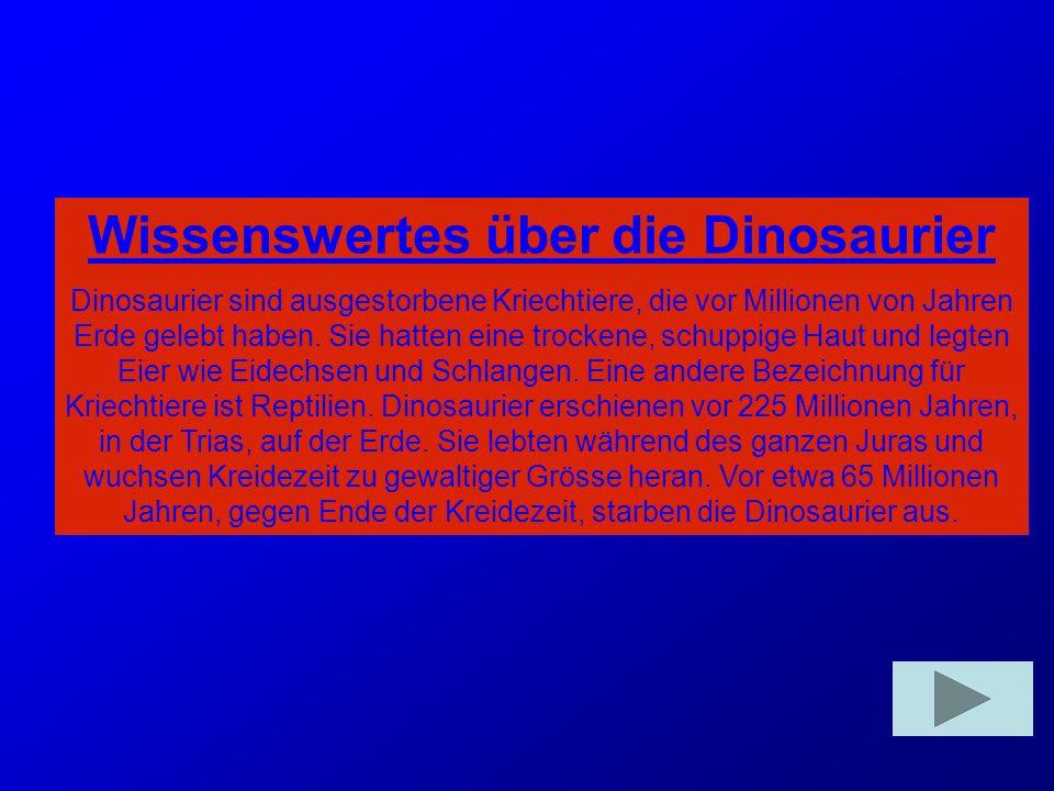 Wissenswertes über die Dinosaurier