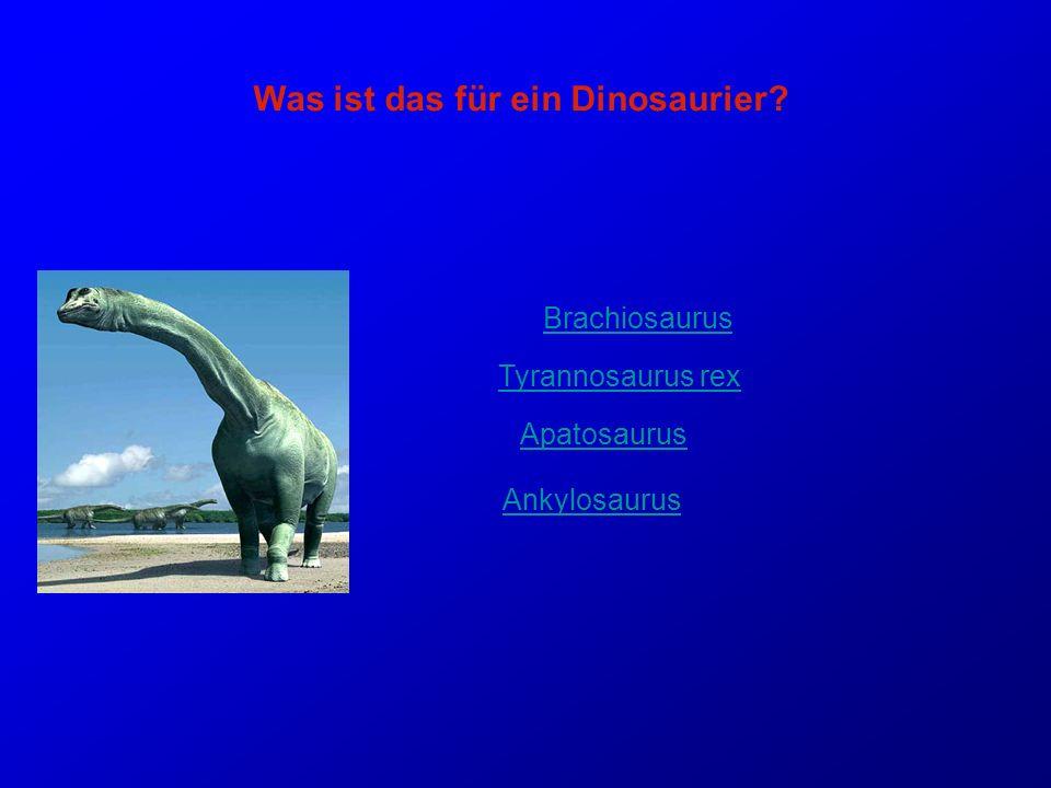 Was ist das für ein Dinosaurier
