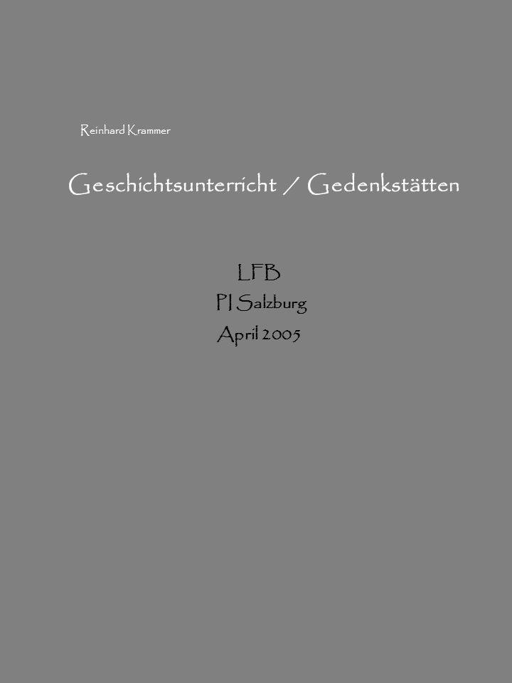 Geschichtsunterricht / Gedenkstätten
